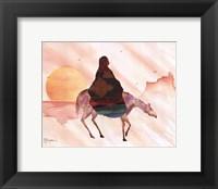 On Horse at Sunrise Fine Art Print