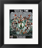 Boston Celtics All Time Greats Composite Fine Art Print