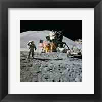 Apollo 15 Lunar Module Pilot James Irwin Salutes the U.S. Flag Fine Art Print