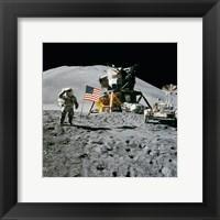 Apollo 15 Lunar Module Pilot James Irwin Salutes the U.S. Flag Fine Art Print