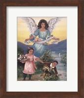 Black Guardian Angel Fine Art Print