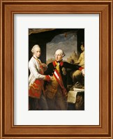 Portrait of Emperor Joseph II and his younger brother Grand Duke Leopold of Tuscany Fine Art Print