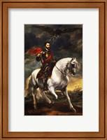 Portrait of Charles V, Holy Roman Emperor, on Horseback Fine Art Print