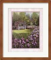 White Swing in Arbor Fine Art Print