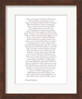 If - Red Border Fine Art Print