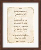 Invictus Poem Fine Art Print