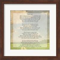 Don't Quit Poem (field) Fine Art Print