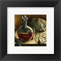 Still Life with Jug of Wine, Bread and Glasses Fine Art Print