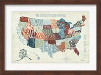 USA Modern Blue Fine Art Print