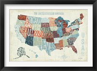 USA Modern Blue Fine Art Print