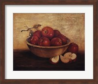 Apples in Wood Bowl Fine Art Print