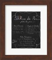 French Menu I Fine Art Print