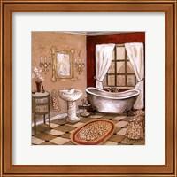 Leopard Florentine Bath Fine Art Print