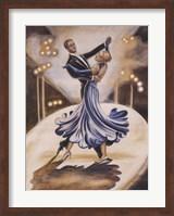 Dancers I (Blue) Fine Art Print