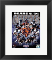 Chicago Bears All-Time Greats Composite Fine Art Print
