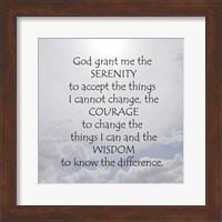 Serenity Prayer - clouds Fine Art Print