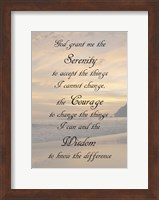 Serenity Prayer - landscape Fine Art Print