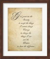 Serenity Prayer - quote Fine Art Print