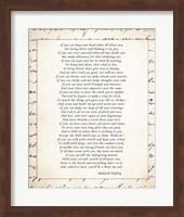 If - Script Border Fine Art Print