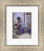 Girl with Book Fine Art Print