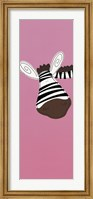 Zebra on Pink Fine Art Print