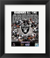 Oakland Raiders All Time Greats Composite Fine Art Print
