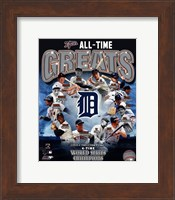 Detroit Tigers All Time Greats Composite Fine Art Print