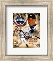 Miguel Cabrera MLB Triple Crown Winner PF Gold Composite Fine Art Print