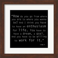 Enthusiasm for Life, Jimmy V Quote Fine Art Print