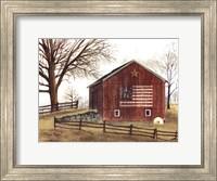 Flag Barn Fine Art Print