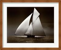 Iverna Yacht at Full Sail, 1895 Fine Art Print