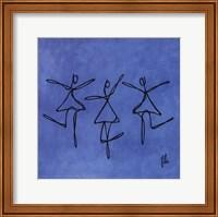 Peace - Blue Dancers Fine Art Print
