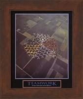 Teamwork-Skydivers Fine Art Print