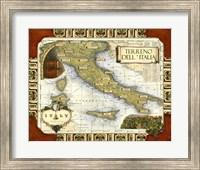 Wine Map of Italy Fine Art Print
