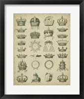 Heraldic Crowns & Coronets III Fine Art Print