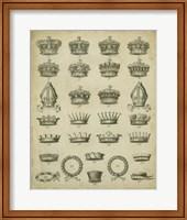 Heraldic Crowns & Coronets IV Fine Art Print