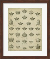 Heraldic Crowns & Coronets V Fine Art Print