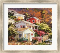 Beach Cottage Community Fine Art Print