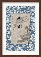 Asian Crane Panel I Fine Art Print