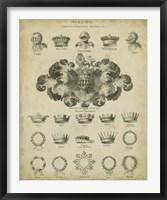 Heraldic Crowns & Coronets I Fine Art Print