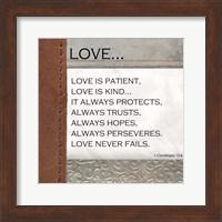 Love is Patient, Love is Kind Fine Art Print