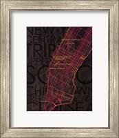 Neon Map II Fine Art Print
