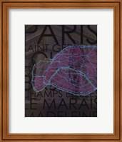 Neon Map III Fine Art Print