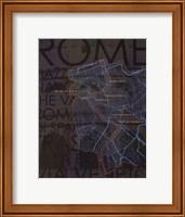 Neon Map IV Fine Art Print