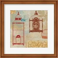 Bird on a Cage I Fine Art Print