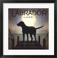 Moonrise Black Dog - Labrador Lake Fine Art Print