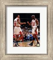 Michael Jordan & Scottie Pippen 1998 Action Fine Art Print