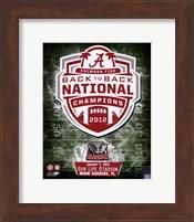 University of Alabama Crimson Tide 2013 BCS Back-To-Back National Champions Team Logo Fine Art Print