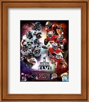 Super Bowl XLVII  Match Up Composite Fine Art Print