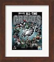 Philadelphia Eagles All Time Greats Composite Fine Art Print